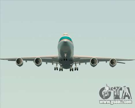 Boeing 747-8 Cargo Cathay Pacific Cargo for GTA San Andreas bottom view