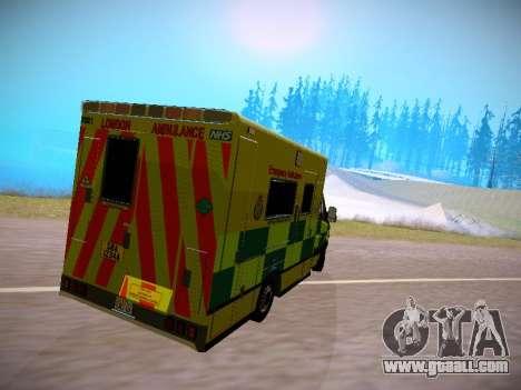 Mercedes-Benz Sprinter London Ambulance for GTA San Andreas back left view