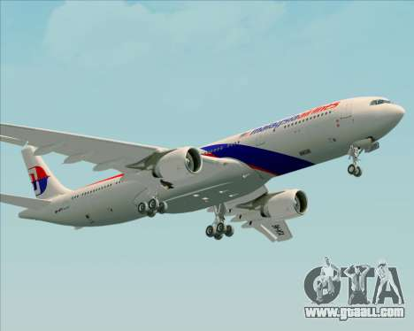 Airbus A330-323 Malaysia Airlines for GTA San Andreas inner view