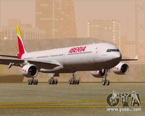 Airbus A340-642 Iberia Airlines for GTA San Andreas left view