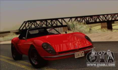 Grotti Stinger 1.0 (IVF) for GTA San Andreas back left view
