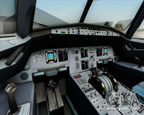 Airbus A320-211 Lufthansa for GTA San Andreas interior