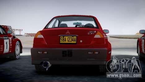 Mitsubishi Lancer Evolution VI Rally for GTA 4 left view