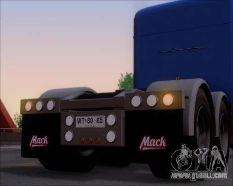 Mack Pinnacle 2006 for GTA San Andreas wheels