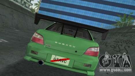 Subaru Impreza WRX 2002 Type 3 for GTA Vice City inner view