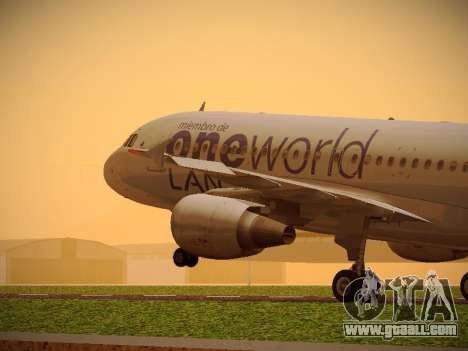 Airbus A320-214 LAN Oneworld for GTA San Andreas