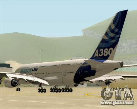 Airbus A380-861 for GTA San Andreas back left view