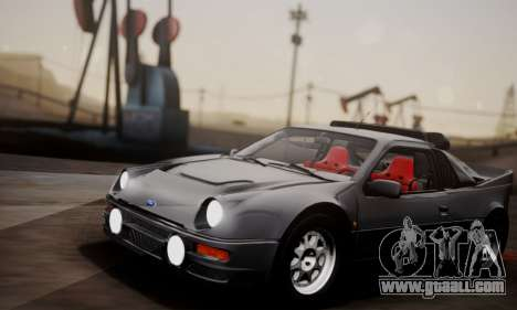 Ford RS200 Evolution 1985 for GTA San Andreas inner view