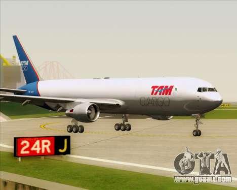 Boeing 767-300ER F TAM Cargo for GTA San Andreas left view