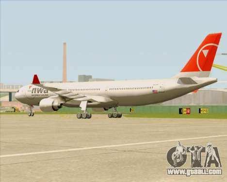 Airbus A330-300 Northwest Airlines for GTA San Andreas inner view