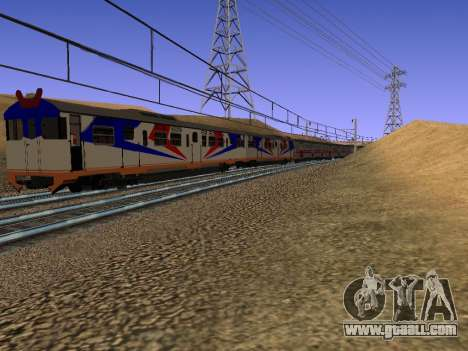 Indonesian diesel train MCW 302 for GTA San Andreas right view