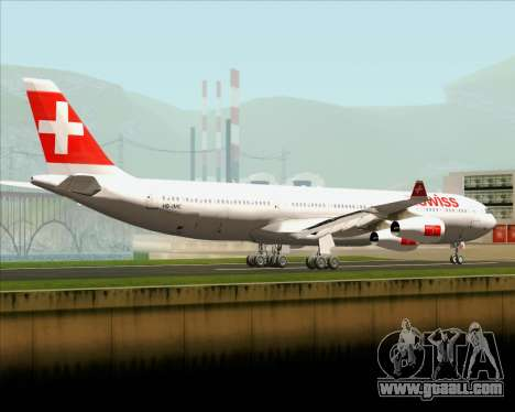 Airbus A340-313 Swiss International Airlines for GTA San Andreas back left view