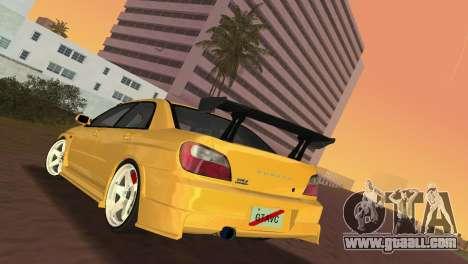 Subaru Impreza WRX 2002 Type 5 for GTA Vice City right view