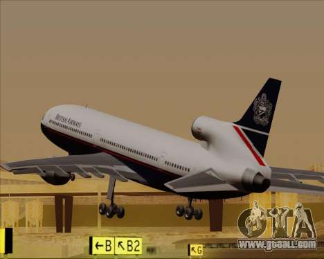 Lockheed L-1011 TriStar British Airways for GTA San Andreas interior