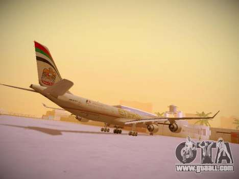 Airbus A340-600 Etihad Airways for GTA San Andreas right view