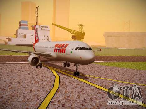 Airbus A320-214 TAM Airlines for GTA San Andreas left view