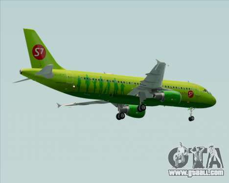 Airbus A320-214 S7-Siberia Airlines for GTA San Andreas wheels