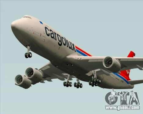 Boeing 747-8 Cargo Cargolux for GTA San Andreas inner view