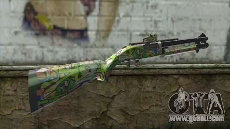 Graffiti Shotgun for GTA San Andreas second screenshot