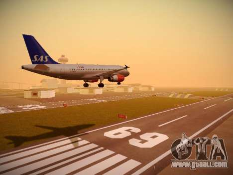 Airbus A319-132 Scandinavian Airlines for GTA San Andreas right view