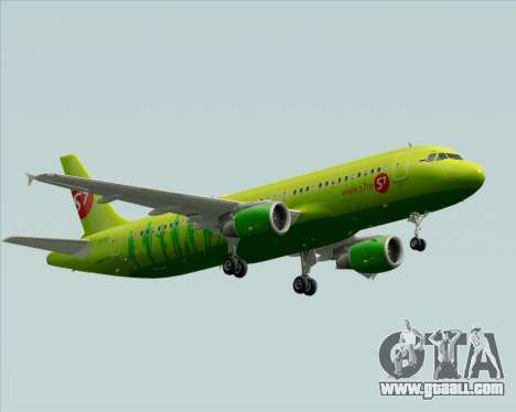 Airbus A320-214 S7-Siberia Airlines for GTA San Andreas back view