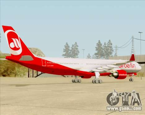 Airbus A330-300 Air Berlin for GTA San Andreas side view
