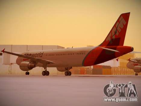 Airbus A320-214 TAM Oneworld for GTA San Andreas back left view