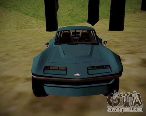 Coquette Classic GTA 5 DLC for GTA San Andreas back left view