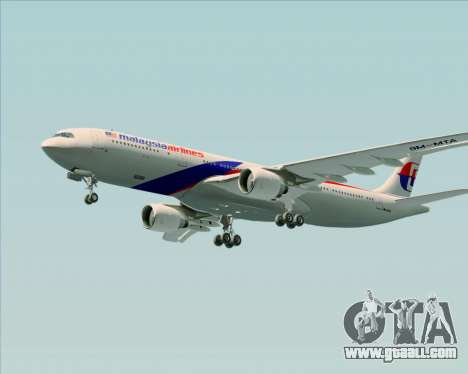 Airbus A330-323 Malaysia Airlines for GTA San Andreas upper view