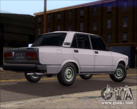 LADA 2107 for GTA San Andreas right view