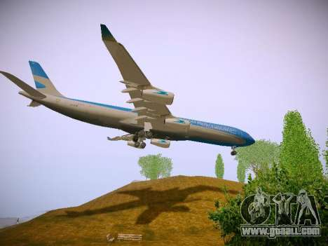 Airbus A340-300 Aerolineas Argentinas for GTA San Andreas side view