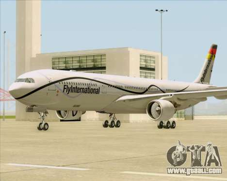 Airbus A330-300 Fly International for GTA San Andreas left view
