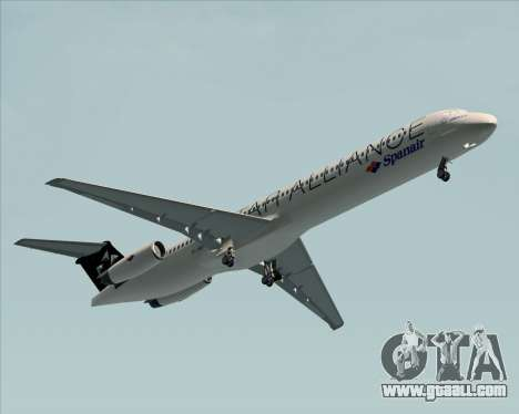 McDonnell Douglas MD-82 Spanair for GTA San Andreas back left view