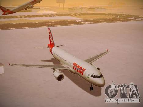 Airbus A320-214 TAM Airlines for GTA San Andreas inner view