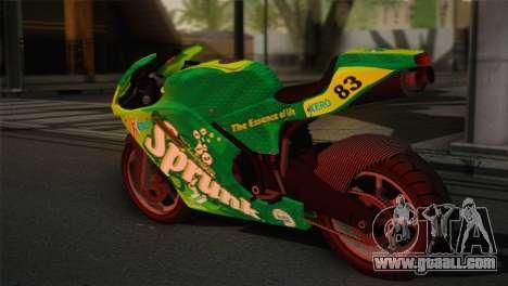 Bati RR 801 Sprunk for GTA San Andreas left view
