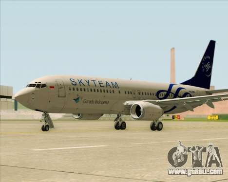 Boeing 737-86N Garuda Indonesia for GTA San Andreas right view