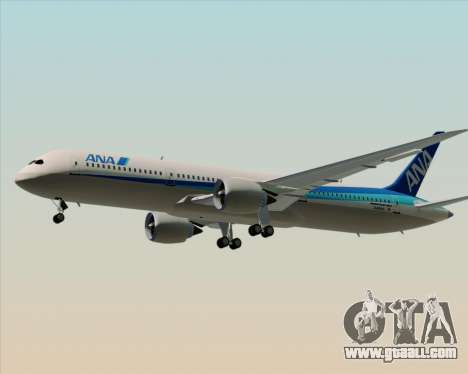 Boeing 787-9 All Nippon Airways for GTA San Andreas bottom view
