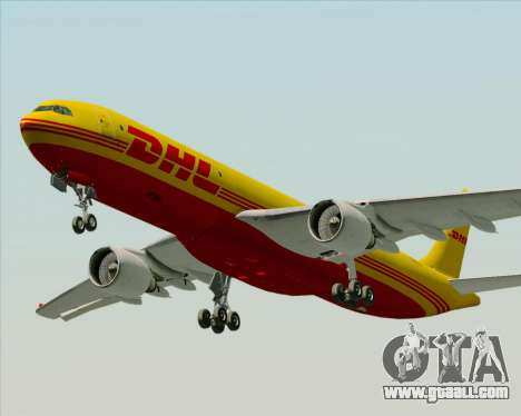 Airbus A330-300P2F DHL for GTA San Andreas side view