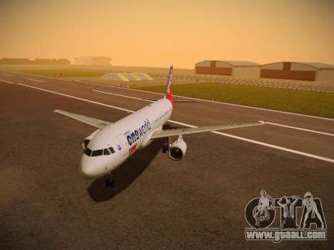 Airbus A320-214 TAM Oneworld for GTA San Andreas left view