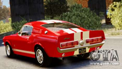 Shelby Cobra GT500 1967 for GTA 4 back view