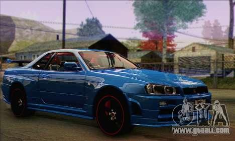 Nissan Skyline GTR34 for GTA San Andreas