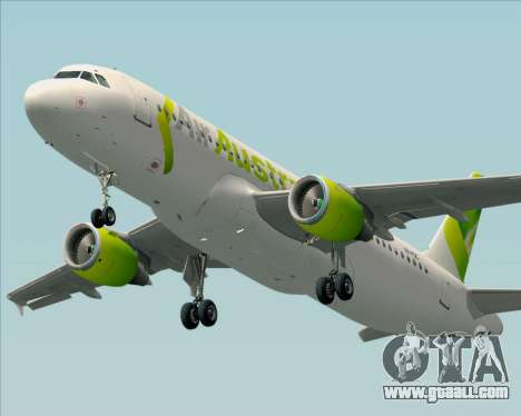 Airbus A320-200 Air Australia for GTA San Andreas side view