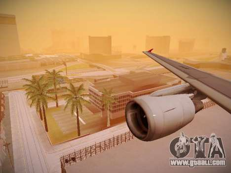 Airbus A320-214 TAM Airlines for GTA San Andreas wheels