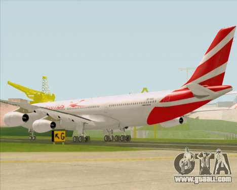 Airbus A340-312 Air Mauritius for GTA San Andreas back left view