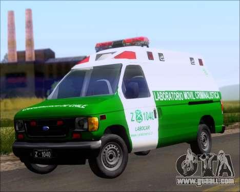 Ford E-150 Labocar for GTA San Andreas