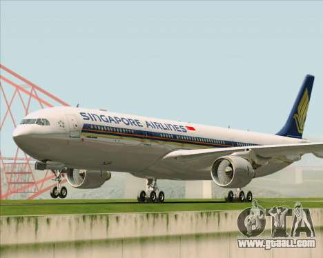 Airbus A330-300 Singapore Airlines for GTA San Andreas back left view