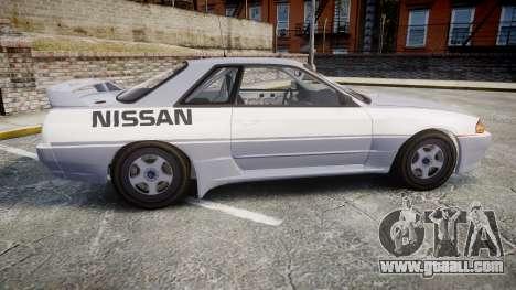 Nissan Skyline GTR R32 for GTA 4 left view