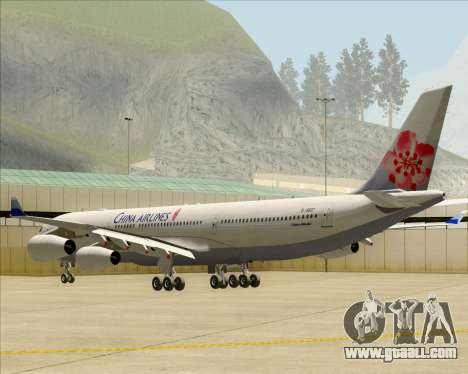 Airbus A340-313 China Airlines for GTA San Andreas right view