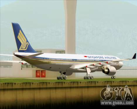 Airbus A330-300 Singapore Airlines for GTA San Andreas right view
