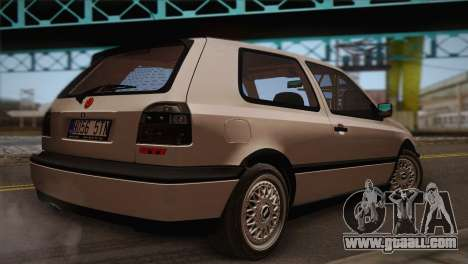 Volkswagen Golf Mk3 GTI for GTA San Andreas left view